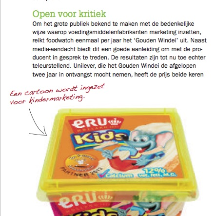 foodwatch gouden windei misleidende marketing kindermarketing claims verpakking