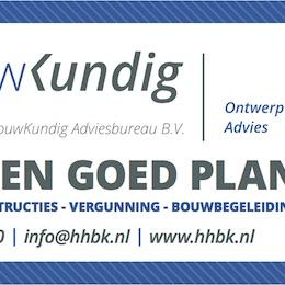 Bouwkundig HHBK Ten Media slogan reclamedoek zakelijk particulier